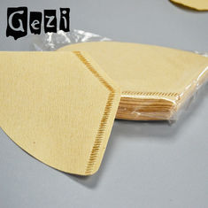 China 300mm Light Yellow Small Coffee Filters Wood Pulp ISO 9000 Custom Size supplier