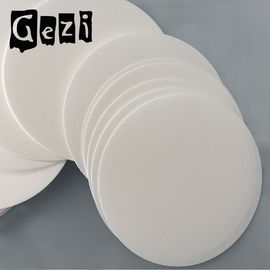 180mm 300 * 300mm Round Filter Paper Chemistry , Cellulose Filter Paper In Funnel