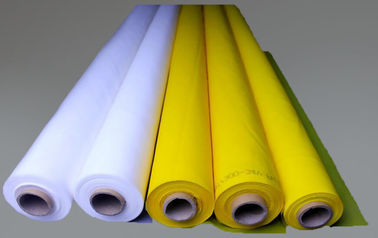 White 100% Monofilament Polyester Screen Printing Mesh For T-shirt