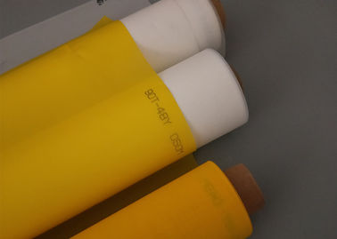 Yellow 100% Monofilament Polyester Screen Printing Mesh 165T For  Printing Plant