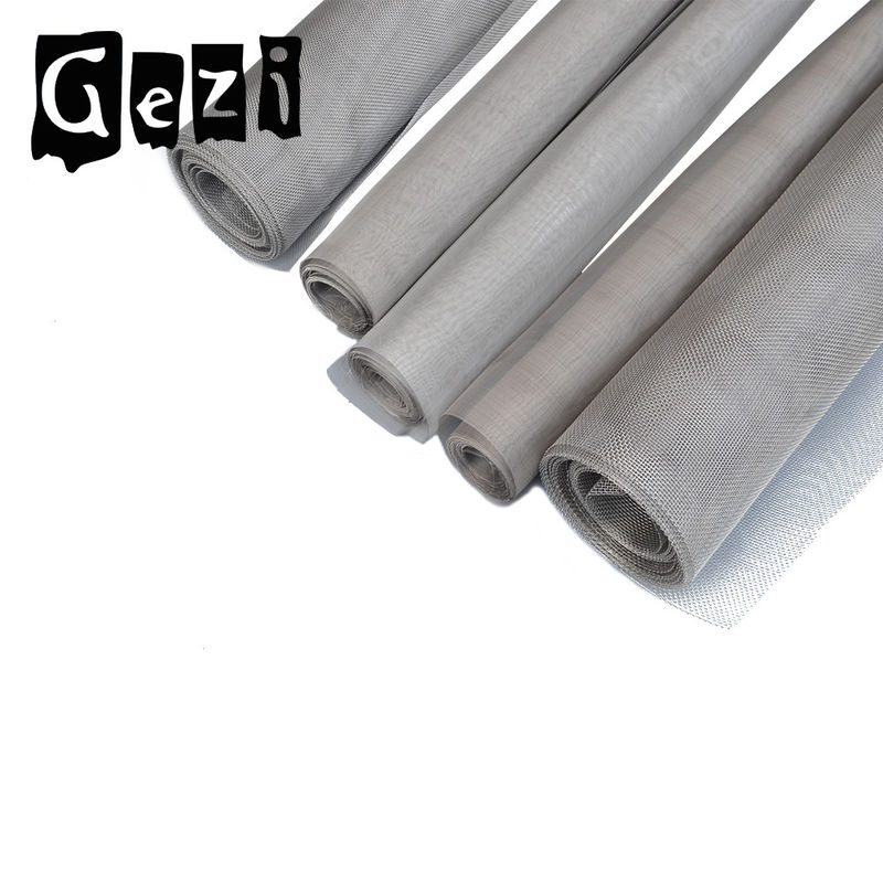 316l Stainless Steel Woven Wire Mesh , Plain Weave 100 Micron ...