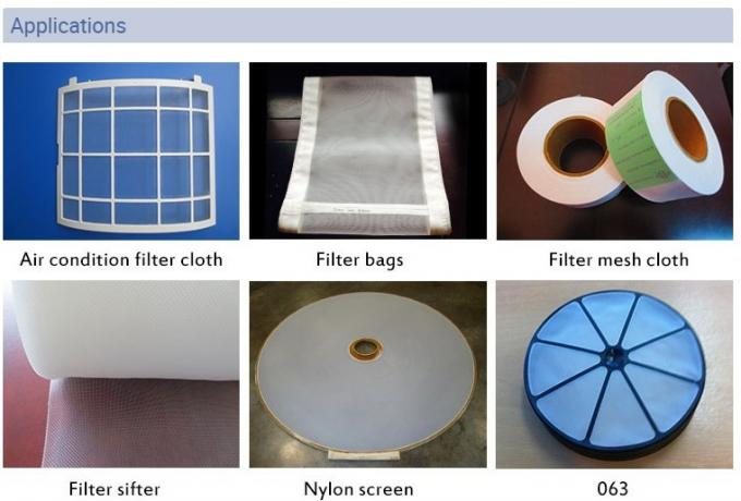 White Color 15 Micron Polyester Nylon Filter Mesh Can Be Repeated Washing