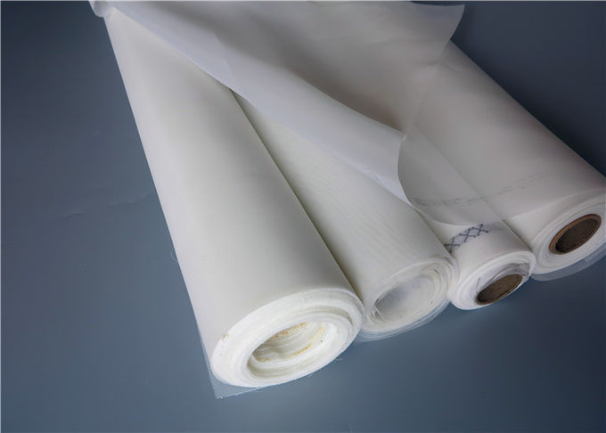 Acid Resistant Monofilament Nylon Filter Mesh Fabric White 115 CM Width For Filtering