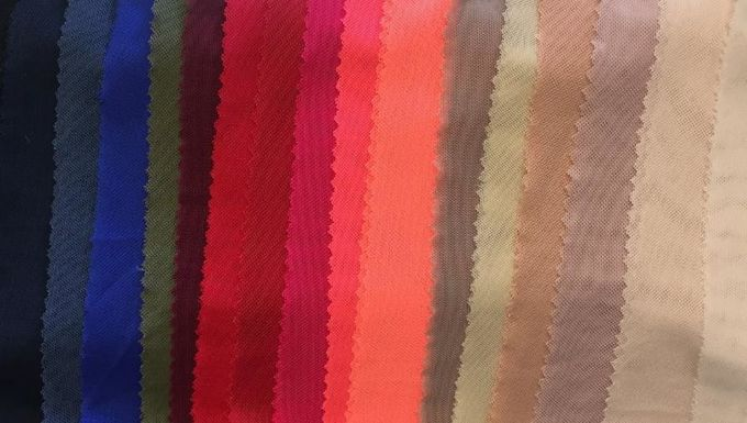 Soft Sheer Drape Stretch Mesh Elastic Fabric Mesh Customized Colors